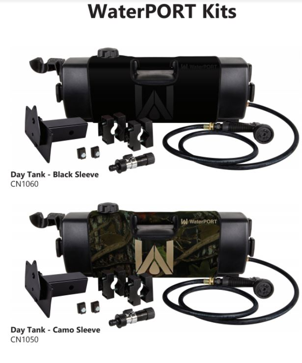 WaterPORT 4 Gallon Black Day Tank - 3 Mounting Options
